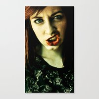 teeth Canvas Prints featuring Teeth by Lídia Vives
