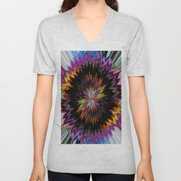 Abstract Perfection 10 Unisex V-Neck