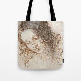 Leonardo da Vinci - Head of Leda Tote Bag