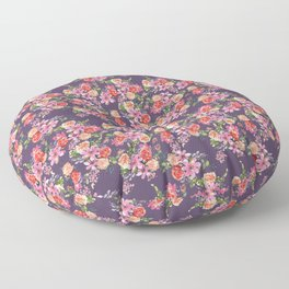 Pink Coral Floral Floor Pillow