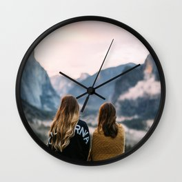 Women Before the Mountains (Friendship) Wall Clock