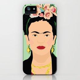 Frida Khalo (Green) | Bad Ass Women Series iPhone Case