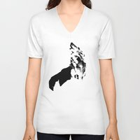 howl V-neck T-shirts featuring Howl by .Esz