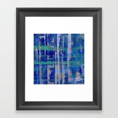 Broken Blue Framed Art Print