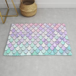Cute Pretty Fun Girly Pattern, Ombre Pastel Pink, Purple, Teal Rug