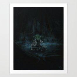Meditation On Dagobah Art Print