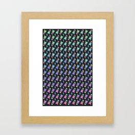 Catcus Pattern Framed Art Print