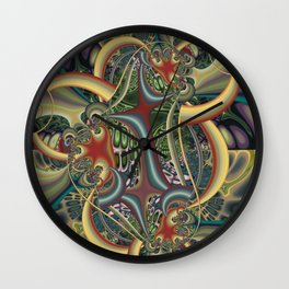 Excitement, modern colorful abstract Wall Clock
