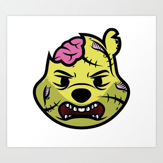 Zombie Winnie Art Print