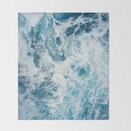 Rough Sea - Ocean Photography Throw Blanket