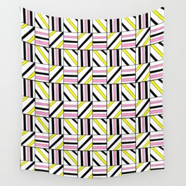symetric tartan and gingham 2 -vichy, gingham,strip,square,geometric, sober,tartan Wall Tapestry