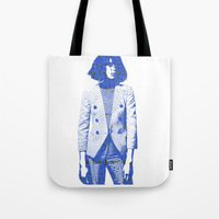 suit Tote Bags featuring Suit by fashionistheonlycure