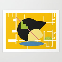 Postmodern fish 2 Art Print