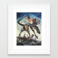 "chrono trigger Framed Art Prints featuring ""Trigger"" by David Ball Collage"