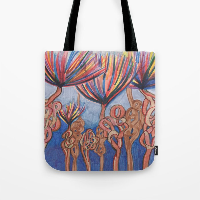 Knot Flowers Tote Bag