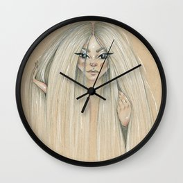 Messy hair dont care Wall Clock