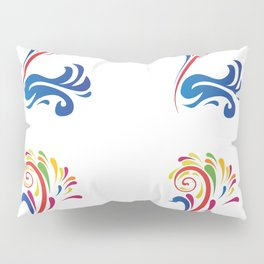 Colorful Bird Swan Nature Art Design Feathers Animal Picture Birdy Artistically Ornament Gift Idea Pillow Sham