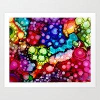 Rainbow World Art Print