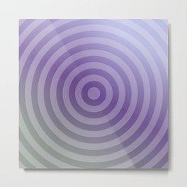 Metallic purple concentric circles Metal Print