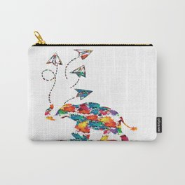 Baby elephant with paper planes Carry-All Pouch