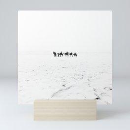 White desert Mini Art Print
