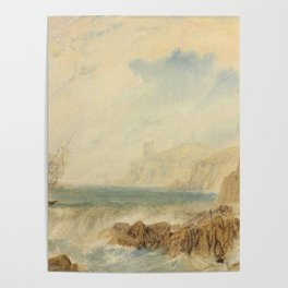 """J.M.W. Turner """"The entrance to Fowey Harbour, Cornwall"""" Poster"""