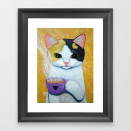 CAFE AU LAIT Framed Art Print
