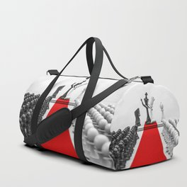 Wedding Chess / 3D render of checkmating ceremony Duffle Bag