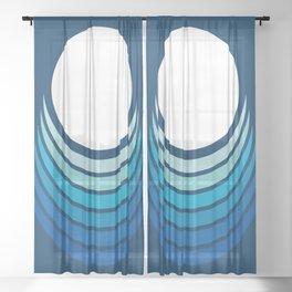 Ocean Crescent Sheer Curtain