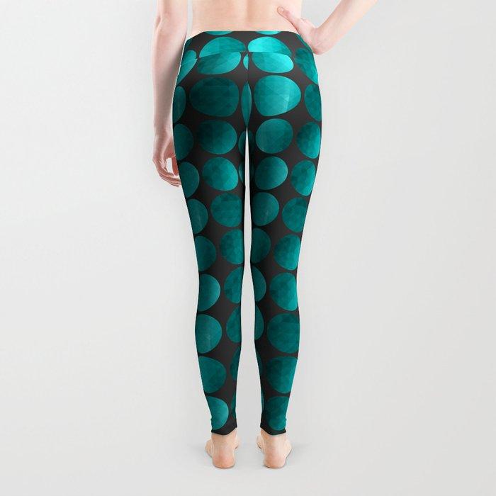 Emerald circles Leggings