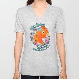 She's Beauty Chicken Shirt Unisex V-Neck