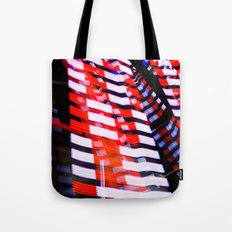 Abstract Red White and Blue Lights Tote Bag