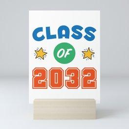 2032 Graduation Shirt, Class of 2032 Grow With Me Mini Art Print