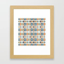 Mid Century Drop Pattern Framed Art Print