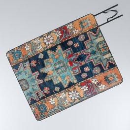 Karabakh  Antique South Caucasus Azerbaijan Rug Print Picnic Blanket