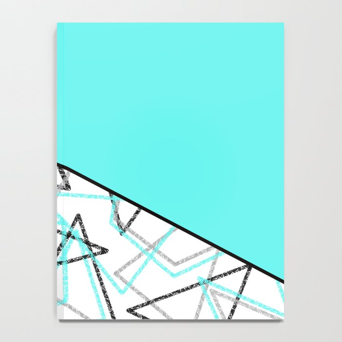 Abstract turquoise combo pattern . Notebook