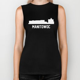 Manitowoc Wisconsin Skyline Cityscape Biker Tank