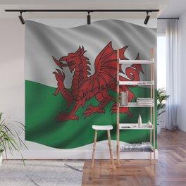Y Ddraig Goch Welsh Flag Wall Mural