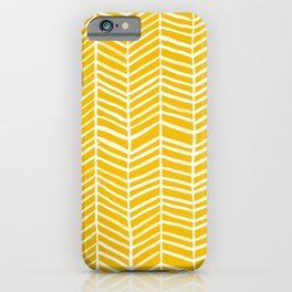 Herringbone – Yellow Palette iPhone Case