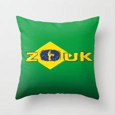 colors of brazil - lets dance brazilian zouk Throw Pillow
