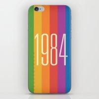 1984 iPhone & iPod Skins featuring 1984 (v) by Dan Rubin