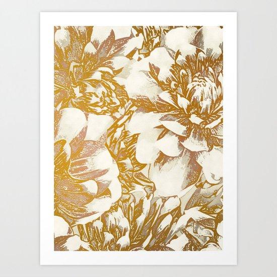 Proud Dahlias Art Print