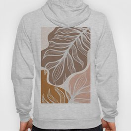 Organic Shapes & Palm Leaves Hoody