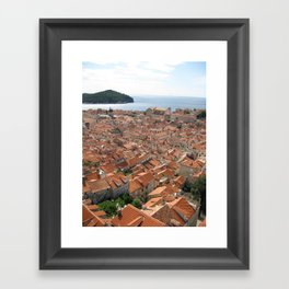 The Old Town Framed Art Print