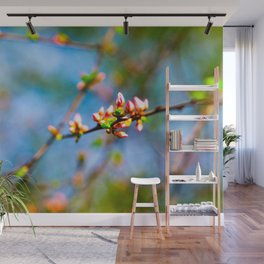 Crabapple buds. Promise of beauty Wall Mural