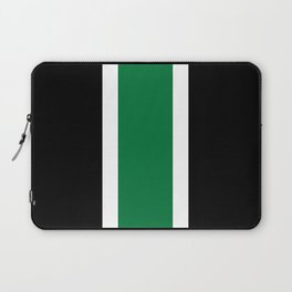 TEAM COLORS 10....GREEN,BLACK Laptop Sleeve