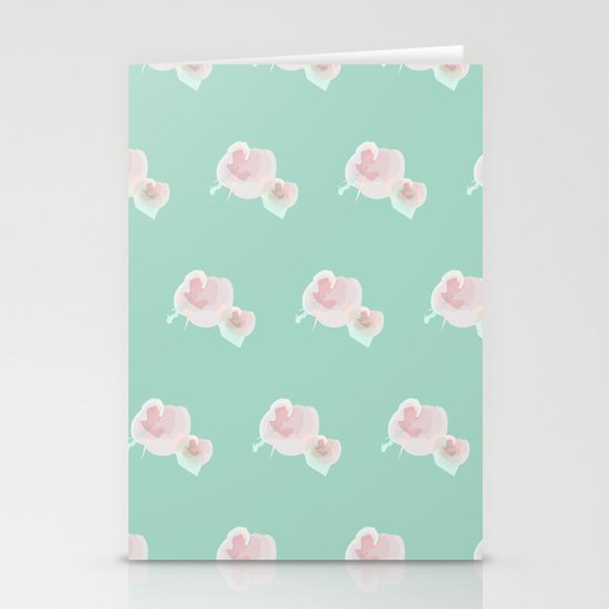 Dope Floral Teal Stationery Cards