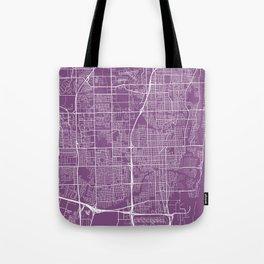 Fort Lauderdale Map, USA - Purple Tote Bag