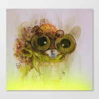 playstation Canvas Prints featuring Weedy Playstation Frankenstein by Kid Doom