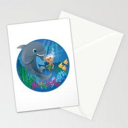 burno in summer Stationery Cards